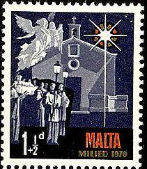 Malta 1970 Christmas