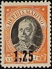San Marino 1927 Antonio Onofri Overprinted