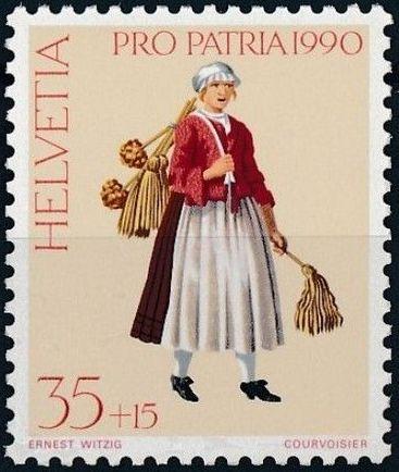 Switzerland 1990 PRO PATRIA - Street criers