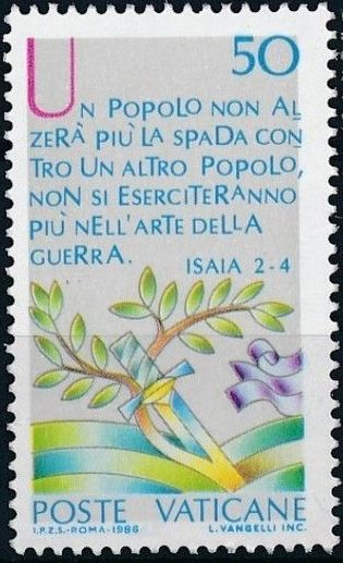 Vatican City 1986 International Peace Year