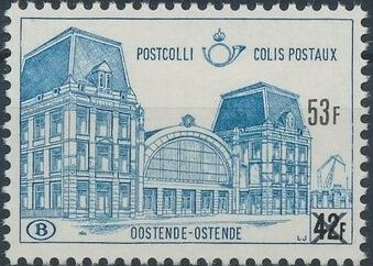 "Belgium 1971 Ostend Station Surcharged with New Value and ""X"" d.jpg"