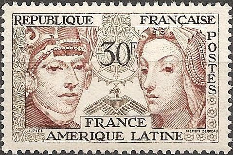 France 1956 Friendship Between France and Latin America