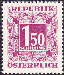 Austria 1953 Postage Due Stamps - Square frame with digit (4th Group)