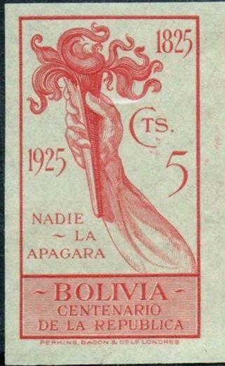 Bolivia 1925 Centenary of the Republic m.jpg