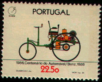 Portugal 1986 100th Anniversary of the Automobile