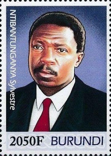 Burundi 2012 Presidents of Burundi - Sylvestre Ntibantunganya d.jpg