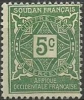 French Sudan 1931 Postage Due