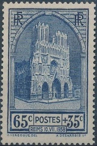 France 1938 Completion of the Reconstruction of Reims Cathedral