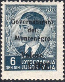 Montenegro 1941 Yugoslavia Stamps Surcharged under Italian Occupation f.jpg