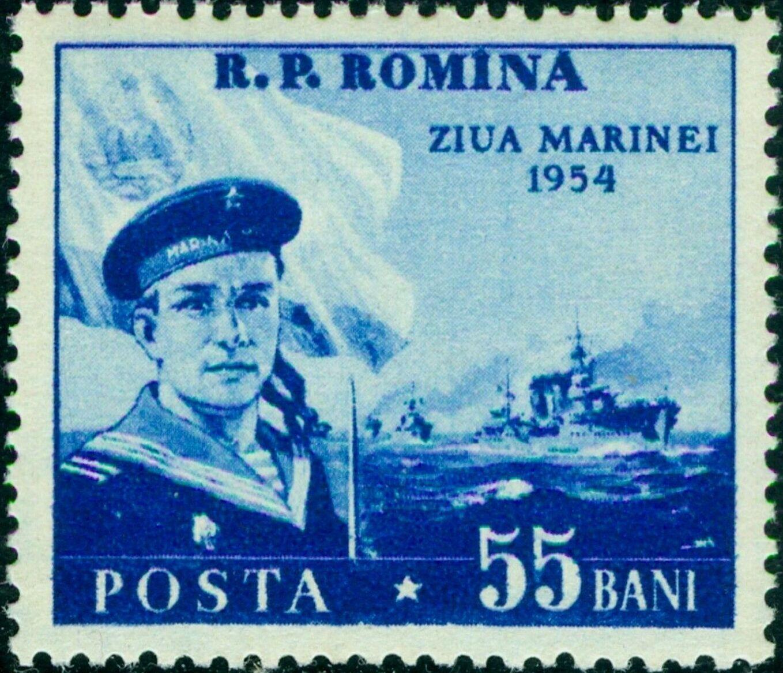 Romania 1954 Navy Day