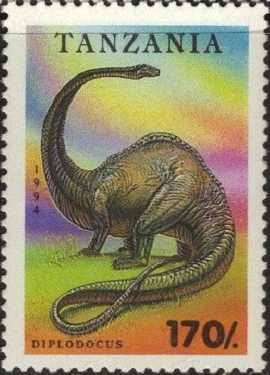 Tanzania 1994 Prehistoric Animals e.jpg