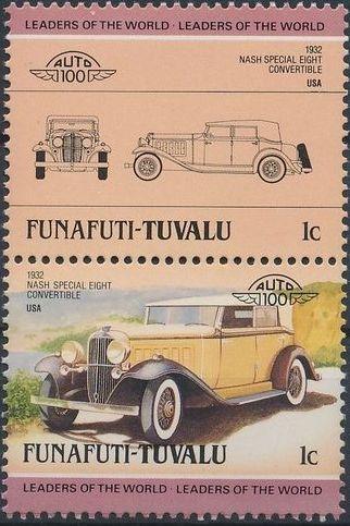 Tuvalu-Funafuti 1985 Leaders of the World - Auto 100 (2nd Group)