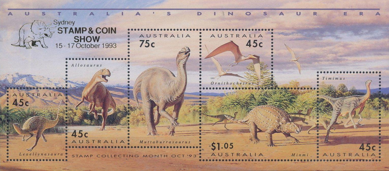 Australia 1993 Australia's Dinosaur Era i.jpg