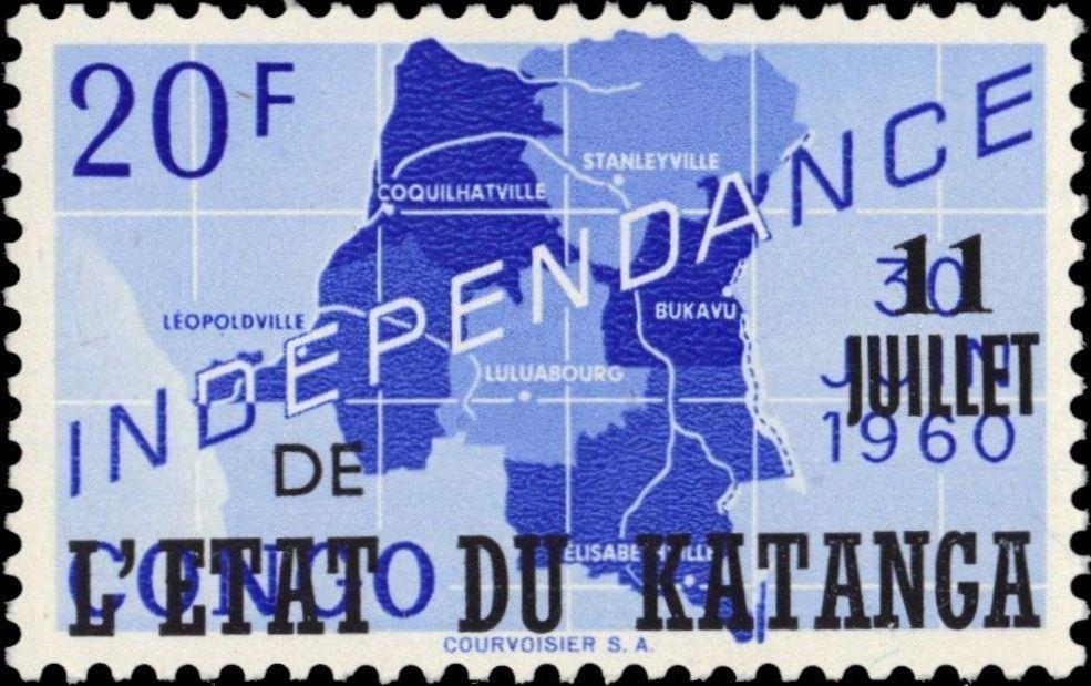 Katanga 1960 Postage Stamps from Congo Overprinted j.jpg