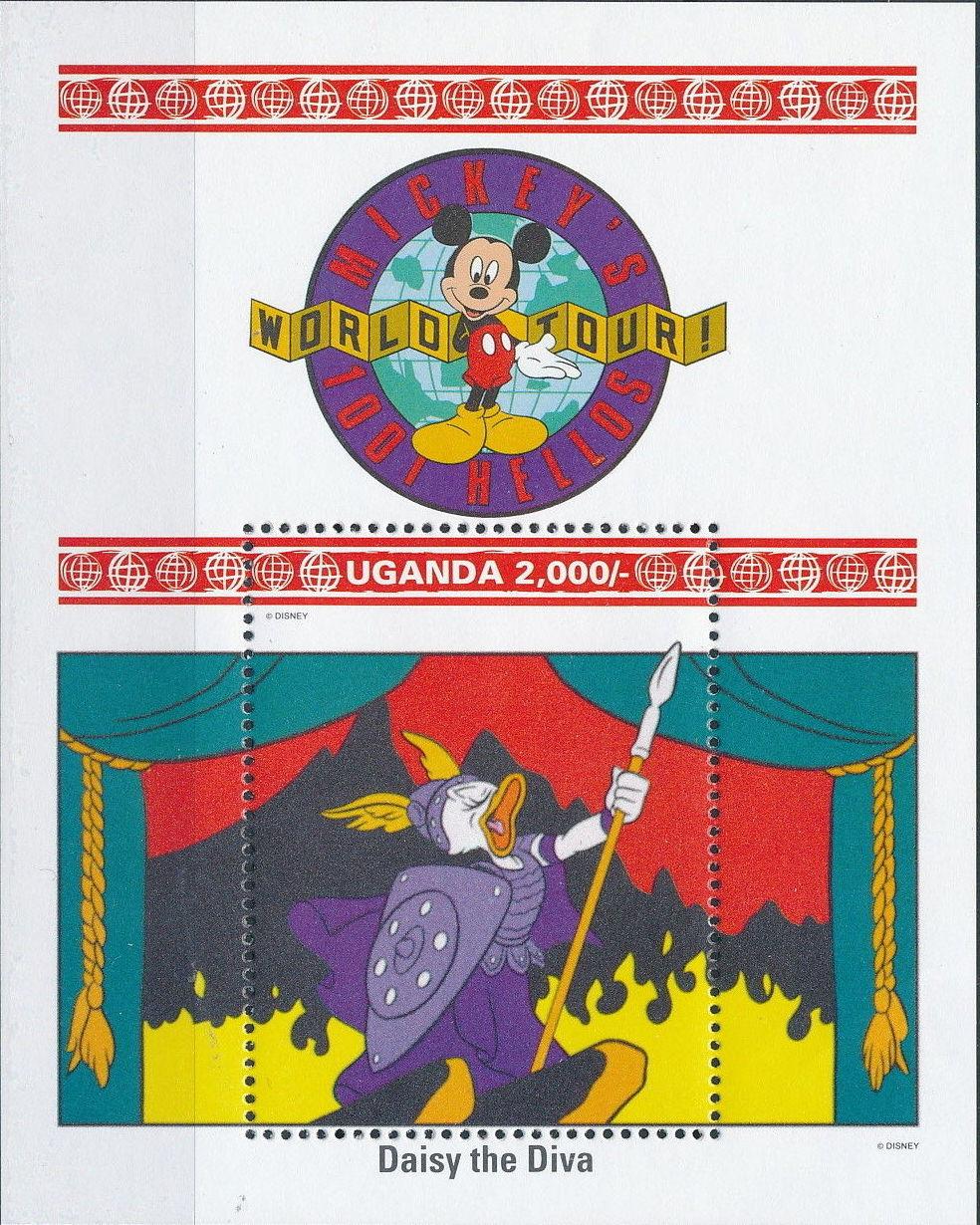 Uganda 1992 Walt Disney Characters on World Tour k.jpg