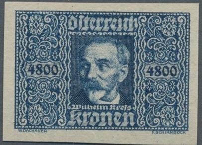 Austria 1923 Air Post Stamps (Common Kestrel and Wilhelm Kress) 2nd Group d.jpg