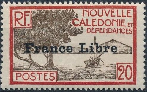 "New Caledonia 1941 Definitives of 1928 Overprinted in black ""France Libre"" h.jpg"