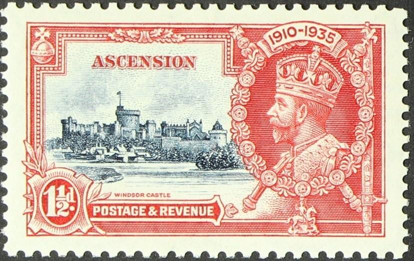 Ascension 1935 George V - Silver Jubilee