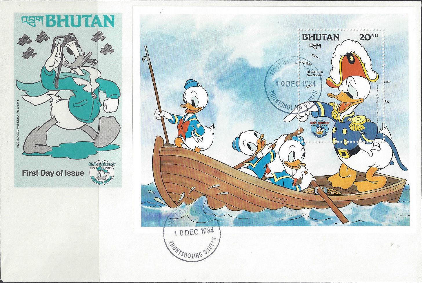 Bhutan 1984 50th Anniversary of Donald Duck m.jpg