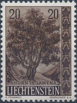 Liechtenstein 1958 Native Trees and Shrubs (2ndt Group)