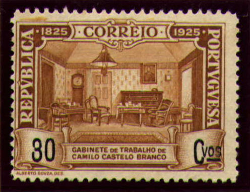 Portugal 1925 Birth Centenary of Camilo Castelo Branco l.jpg