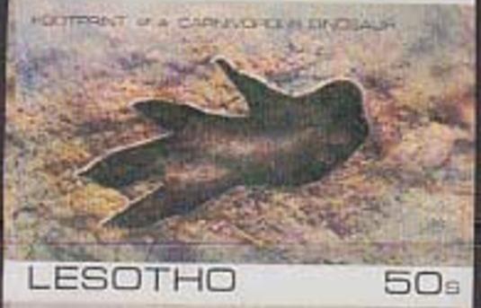 Lesotho 1984 Dinosaurs Footprints f.jpg