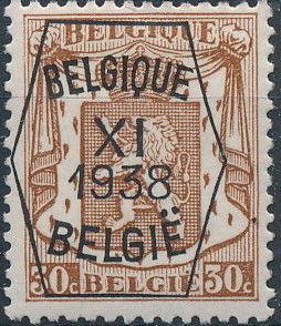 Belgium 1938 Coat of Arms - Precancel (11th Group) d.jpg