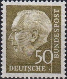 Germany, Federal Republic 1957 Pres. Theodor Heuss c.jpg