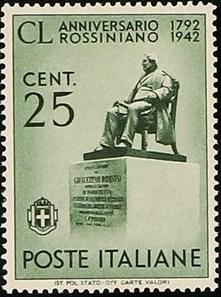Italy 1942 Gioacchino Antonio Rossini (1792-1868)
