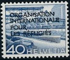 Switzerland 1950 Landscapes and Technology Official Stamps for The International Organization for Refugees h.jpg
