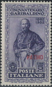 Italy (Aegean Islands)-Patmo 1932 50th Anniversary of the Death of Giuseppe Garibaldi j.jpg