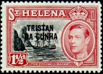 Tristan da Cunha 1952 Stamps of St. Helena Overprinted c.jpg