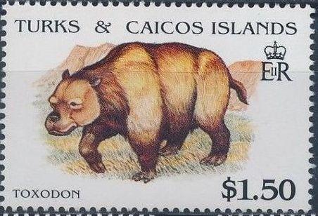 Turks and Caicos Islands 1991 Extinct Animals h.jpg