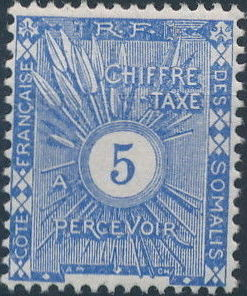 French Somali Coast 1915 Postage Due Stamps