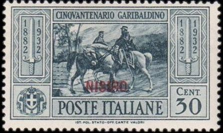 Italy (Aegean Islands)-Nisiro 1932 50th Anniversary of the Death of Giuseppe Garibaldi d.jpg