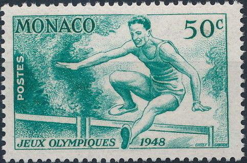 Monaco 1948 Summer Olympics, London - Regular Stamps a.jpg