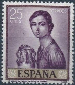 Spain 1965 Painters - Julio Romero de Torres