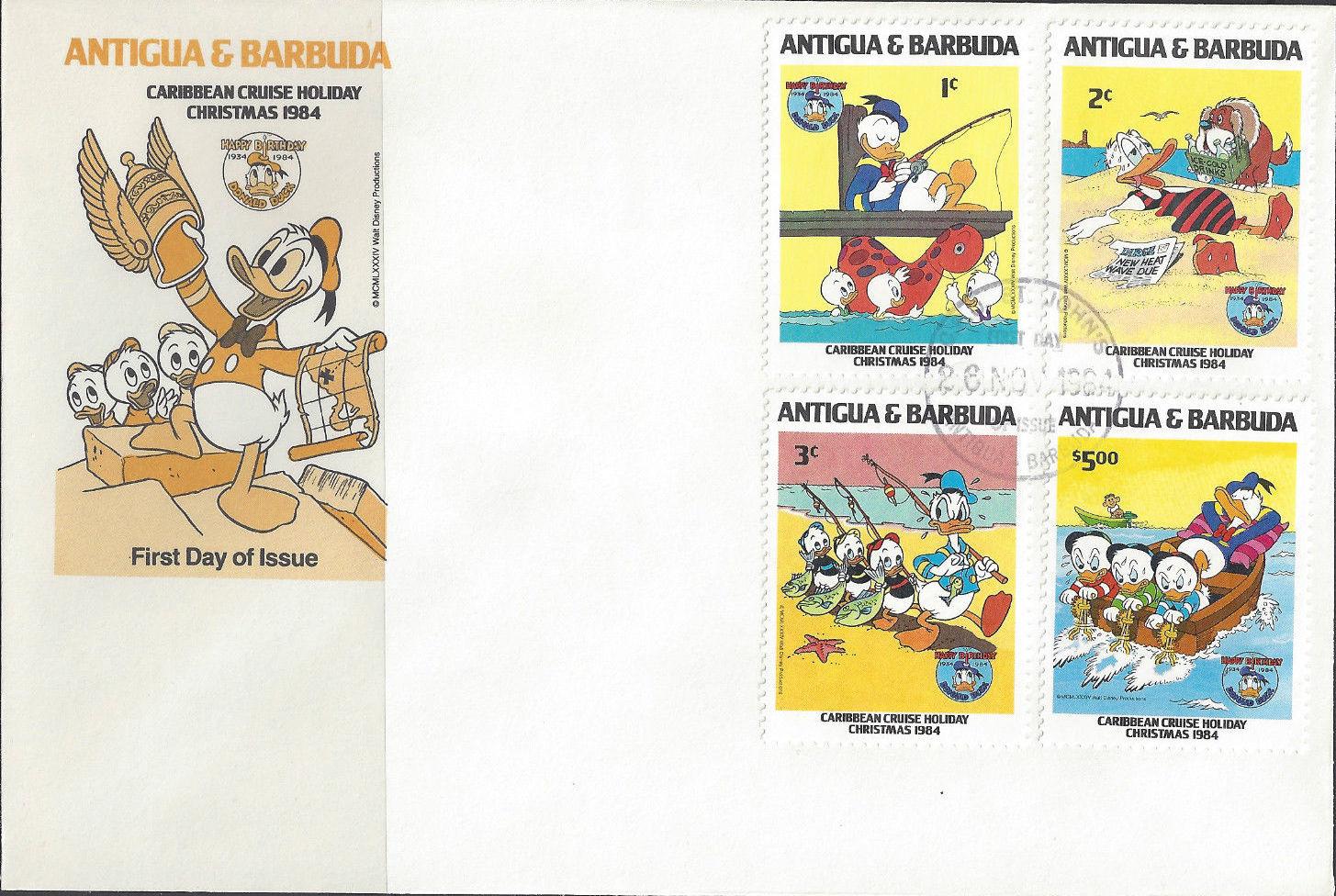 Antigua and Barbuda 1984 Disney - Christmas - 50th Anniversary of the Birth of Donald Duck n.jpg