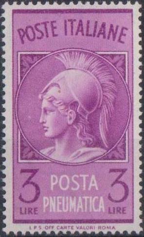 Italy 1947 Pneumatic Post Stamp - Minerva
