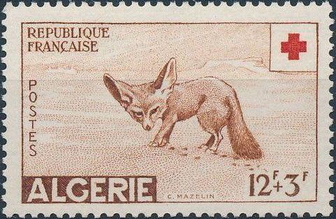 Algeria 1957 Red Cross