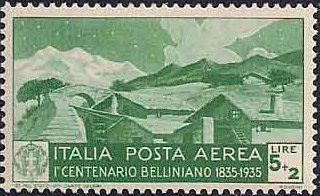 Italy 1935 3rd Centenary of the Death of Vincenzo Bellini - Air Post Stamps e.jpg