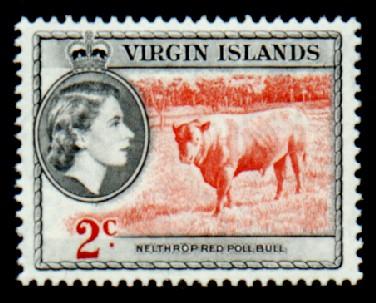 British Virgin Islands 1956 Queen Elizabeth II and Views c.jpg
