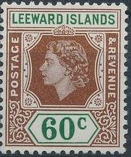 Leeward Islands 1954 Queen Elizabeth II l.jpg