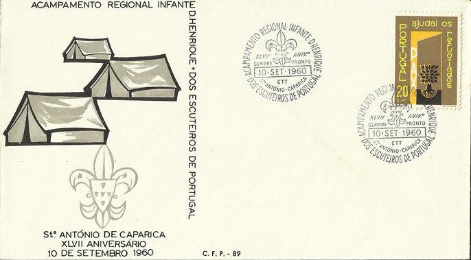 Regional Camp Infante D. Henrique of Portuguese Scouts PM FDCa.jpg