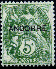 "Andorra-French 1931 Type ""Blanc"" of France Overprinted ""ANDORRE"" d.jpg"