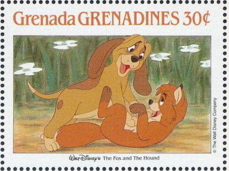 Grenada Grenadines 1988 The Disney Animal Stories in Postage Stamps 2c.jpg