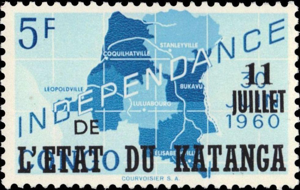 Katanga 1960 Postage Stamps from Congo Overprinted g.jpg