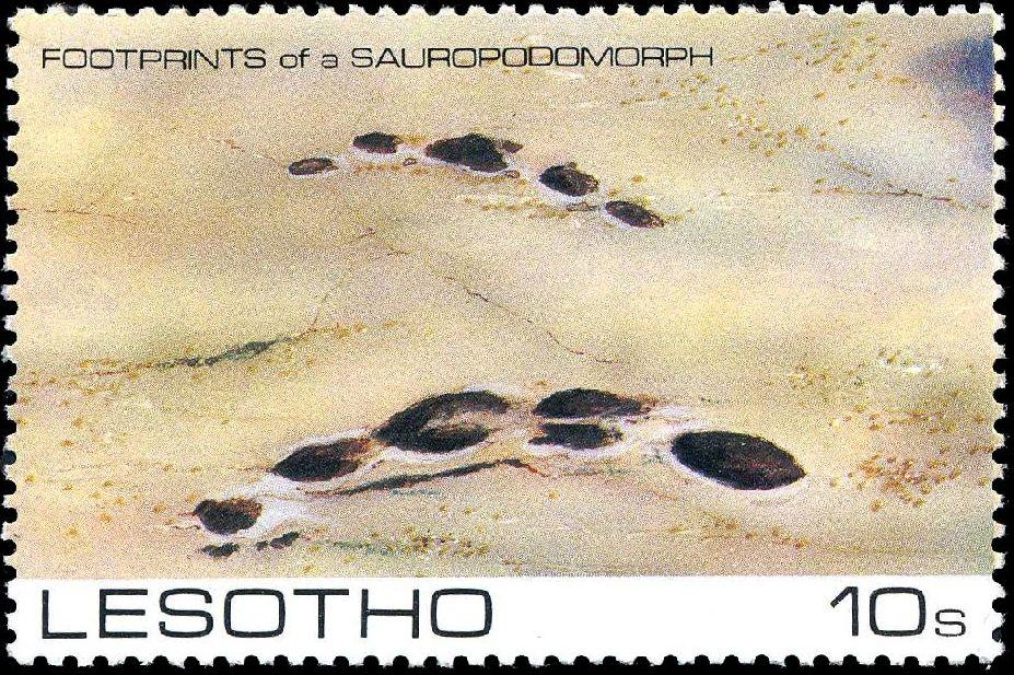 Lesotho 1984 Dinosaurs Footprints a.jpg