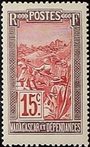 Madagascar 1916 Transportation by Sedan Chair