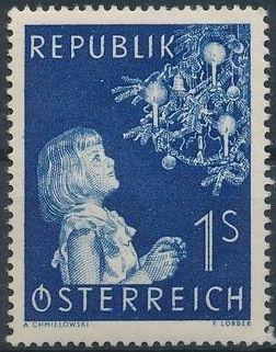 Austria 1954 Christmas